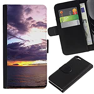Planetar® Modelo colorido cuero carpeta tirón caso cubierta piel Holster Funda protección Para Apple (4.7 inches!!!) iPhone 6 ( Sunset Sea Ocean Romantic Nature Summer )