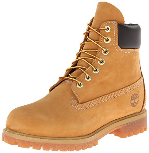Timberland Men's 6 inch Premium Waterproof Boot,Wheat Nubuck,10 M US by Timberland