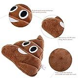 BESTOMZ Poop Plush Pillow Round Cushion Toy, 35 x 35 x 10 cm (Smile poop)