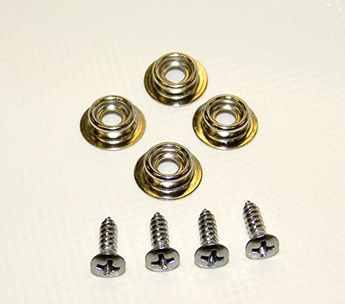 "10 Pc. Snap Stud 3//8/"" Nickel Plated Brass w// #6 Stainless Steel ½/"" Screw"