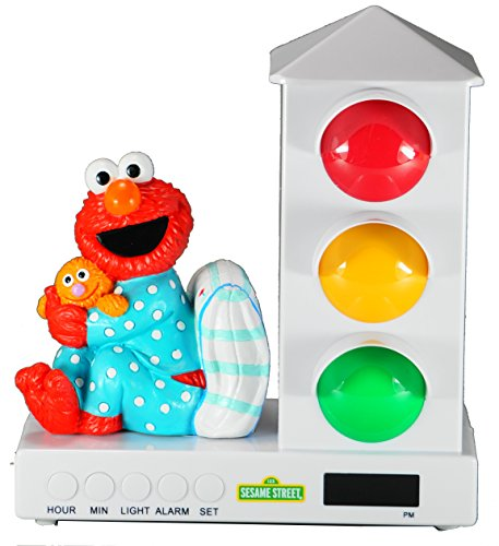 It's About Time Stoplight Sleep Enhancing Alarm Clock for Kids, Elmo's Bedtime