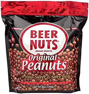 product image for BEER NUTS Original Peanuts - 46 oz Resealable Bag, Sweet and Salty, Gluten-Free, Kosher, Low Sodium Peanut Snacks