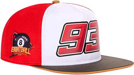 Marc Marquez 93 Moto GP World Champion 8 Ball Flat Peak Gorra ...