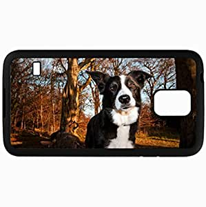 Fashion Unique Design Protective Cellphone Back Cover Case For Samsung GalaxyS5 Case Dog Black