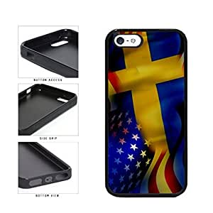 diy phone caseSweden and USA Mixed Flag TPU RUBBER SILICONE Phone Case Back Cover Apple iPhone 5 5sdiy phone case