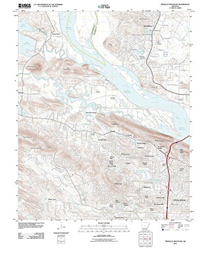 Arkansas Maps | 2011 Pinnacle Mountain, AR USGS Historical Topographic Map |Fine Art Cartography Reproduction - Ar Pinnacle