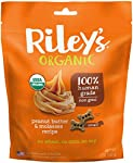 Riley's Organics - Peanut Butter & Molasses - 5 oz Small Biscuits - Human Grade Organic Dog Treats - Resealable Bag