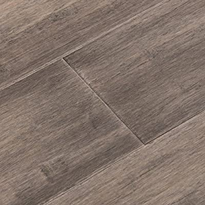 Cali Bamboo - Solid T&G Wide Bamboo Flooring, Boardwalk Gray, Hand Scraped - Sample