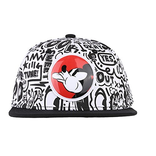 Hatson Mickey Mouse Collaboration Snapback Basic CAP Fasion HAT Unisex Free Size (301 BK) by HATSON