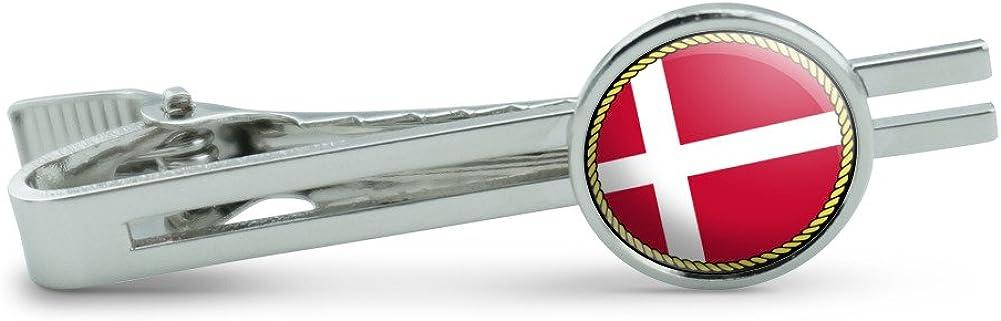 Made On Terra Flag of Denmark Men's Tie Clip Tack Bar