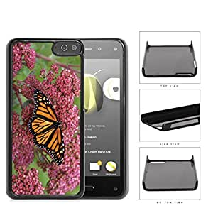 Orange Butterfly And Pink Flower Garden Hard Plastic Snap On Cell Phone Case Amazon Fire