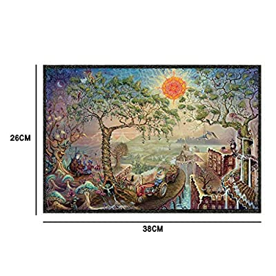 Fine Art Puzzle 1000 Piece for Adult Cardboard Jigsaw Fairy Farm Under The Sun, Puzzles Creative Toys for Kids Adults Playing Home: Arts, Crafts & Sewing