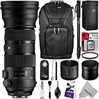 Sigma 150-600mm 5-6.3 Sports DG OS HSM Lens for CANON EF Cameras w/ Essential Photo and Travel Bundle
