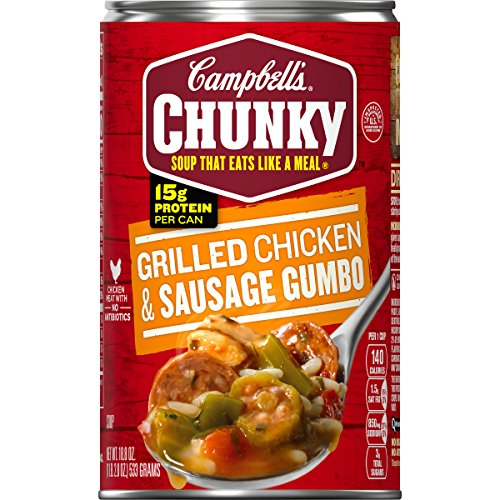 Campbell's Chunky Grilled Chicken & Sausage Gumbo, 18.8 oz. Can (Pack of - Soup Grilled Chicken