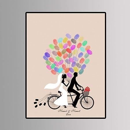 Creativo DIY Dedo Pareja Montar En Bicicleta Patrón Fiesta De ...