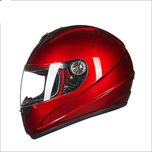 XINGZHE ヘルメット - ヘルメットオートバイ乗り物防曇の男性のフルフェイスヘルメットヘルメット機関車レディースフォーシーズンウォーム透明なミラー 安全ヘルメット (Color : C)