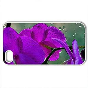 orchis - Case Cover for iPhone 4 and 4s (Flowers Series, Watercolor style, White)