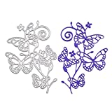 Metal Cutting Dies Stencil Template for DIY Scrapbook Album Paper Card Craft Decoration (Butterfly)