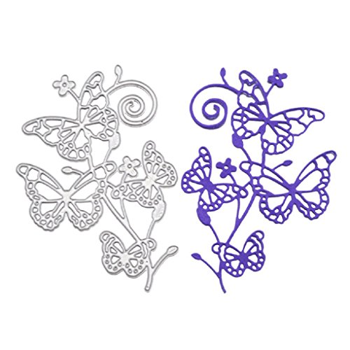 Craft Die Cuts Machine (Metal Cutting Dies Stencil Template for DIY Scrapbook Album Paper Card Craft Decoration (Butterfly))