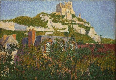 Oil Painting 'Paul Signac,Les Andelys,Chateau Gaillard,1886' 10 x 14 inch / 25 x 37 cm , on High Definition HD canvas prints is for Gifts And Kids Room, Nursery And Powder Room Decoration - Chateau Rustic Sconce