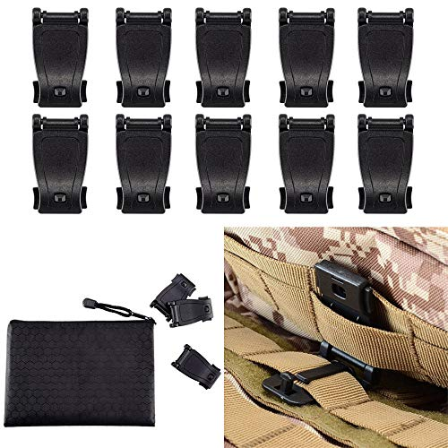 MOLLE Clips Tactical Strap Management Tool Web Dominator Backpack Accessories by BOOSTEADY (Panel Belt Molle)