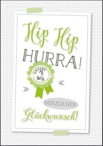 11,6 x 16,6 cm Gl/ückwunsch zur Karte zur Pr/üfung Karte zur Pr/üfung Lifestyle