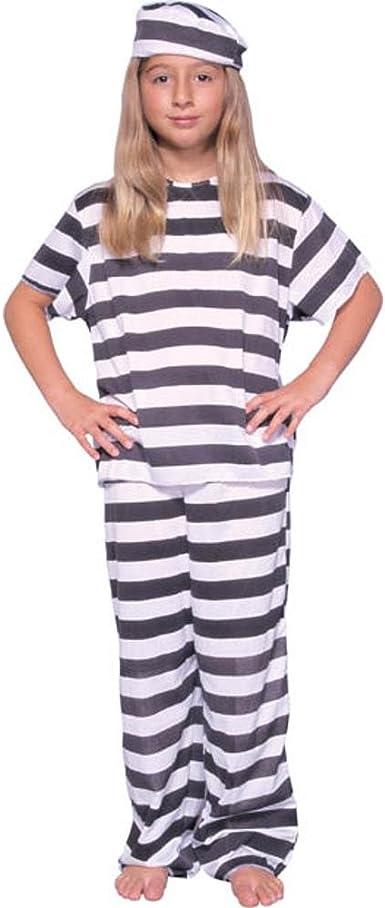 Fun World Costumes Jailbird Kids Costume,Black White,4-6