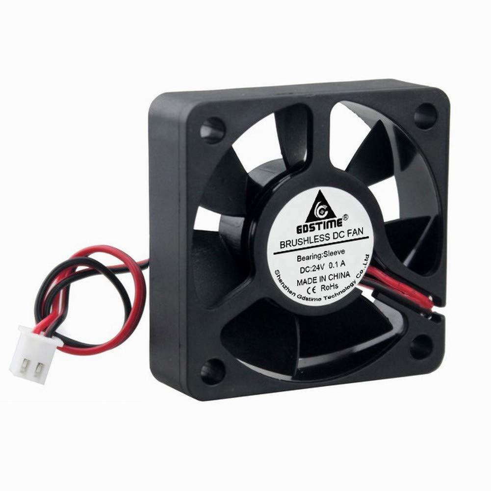 GDSTIME 24V 50mm Fan 50mm x 15mm 5015 Brushless Cooling Fan