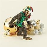 Design Toscano Christmas Tree Ornaments - Bigfoot the Holiday Yeti with Santa Hat Holiday Ornament - Funny Christmas Ornaments - Christmas Decorations