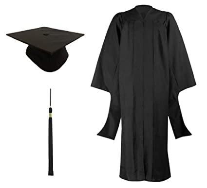 afca258e33c Cappe Diem Masters Graduation Deluxe Black Cap and Gown Tassel Package  (57 quot  (height