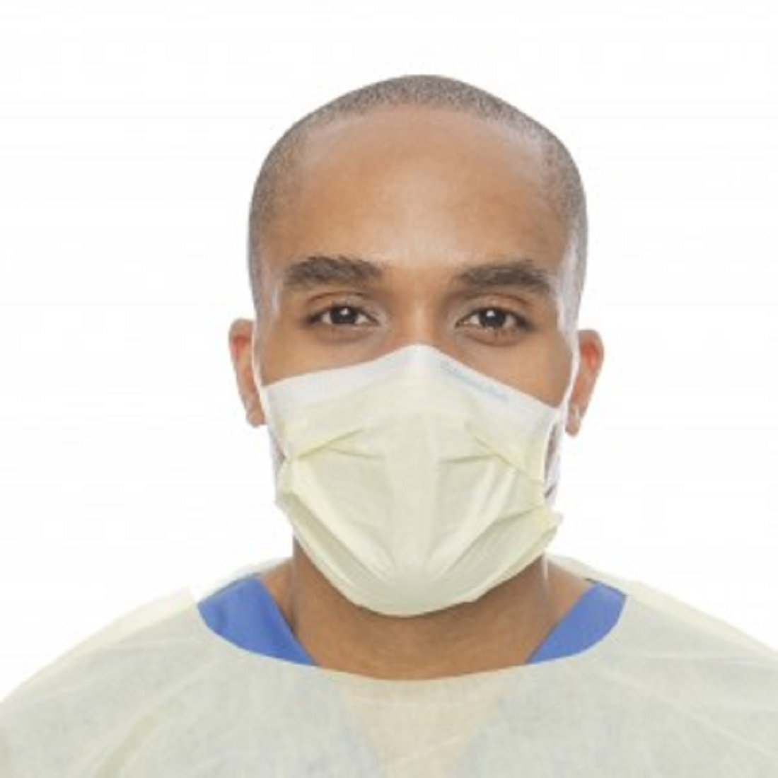 Kimberly Clark Healthcare 49700 Earloop Mask Procedure Pleated Blue 10Bx/Ca by Kimberly-Clark