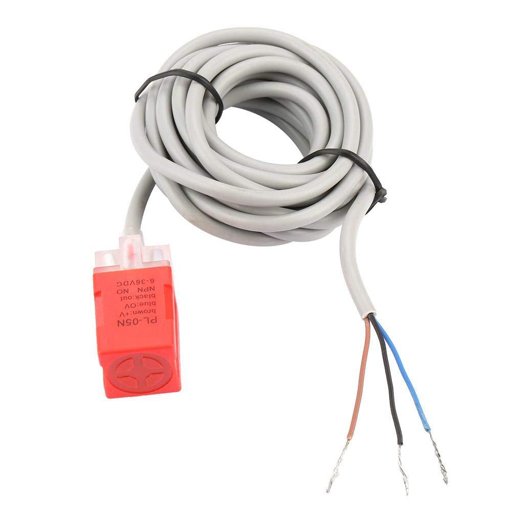 PL-05N NPN Normalmente abierto Interruptor del sensor de proximidad de CC Materia DC12-24V AC110-220V Interruptor del sensor de proximidad magn/ético de 5 mm de distanci Sensor de proximidad inductivo