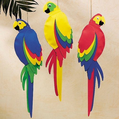 Foam Jumbo Parrots (1 dz) (Parrot Decorations)