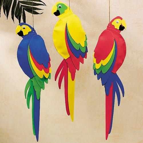 Foam Jumbo Parrots (1 dz)