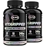 Vitaripped 60 Caps (2 Pack) - Complete Multivitamin For the Active Man - Over 20 Essential Vitamins & Minerals - All Natural Ingredients & Testosterone Blend