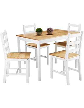 Solid Wood Dining Table and 4 Chairs Dining Set b9bfd10cd