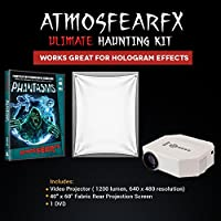LED Video Projector for AtmosFear FX Halloween Videos. Included, Phantasms and Hologram Screen