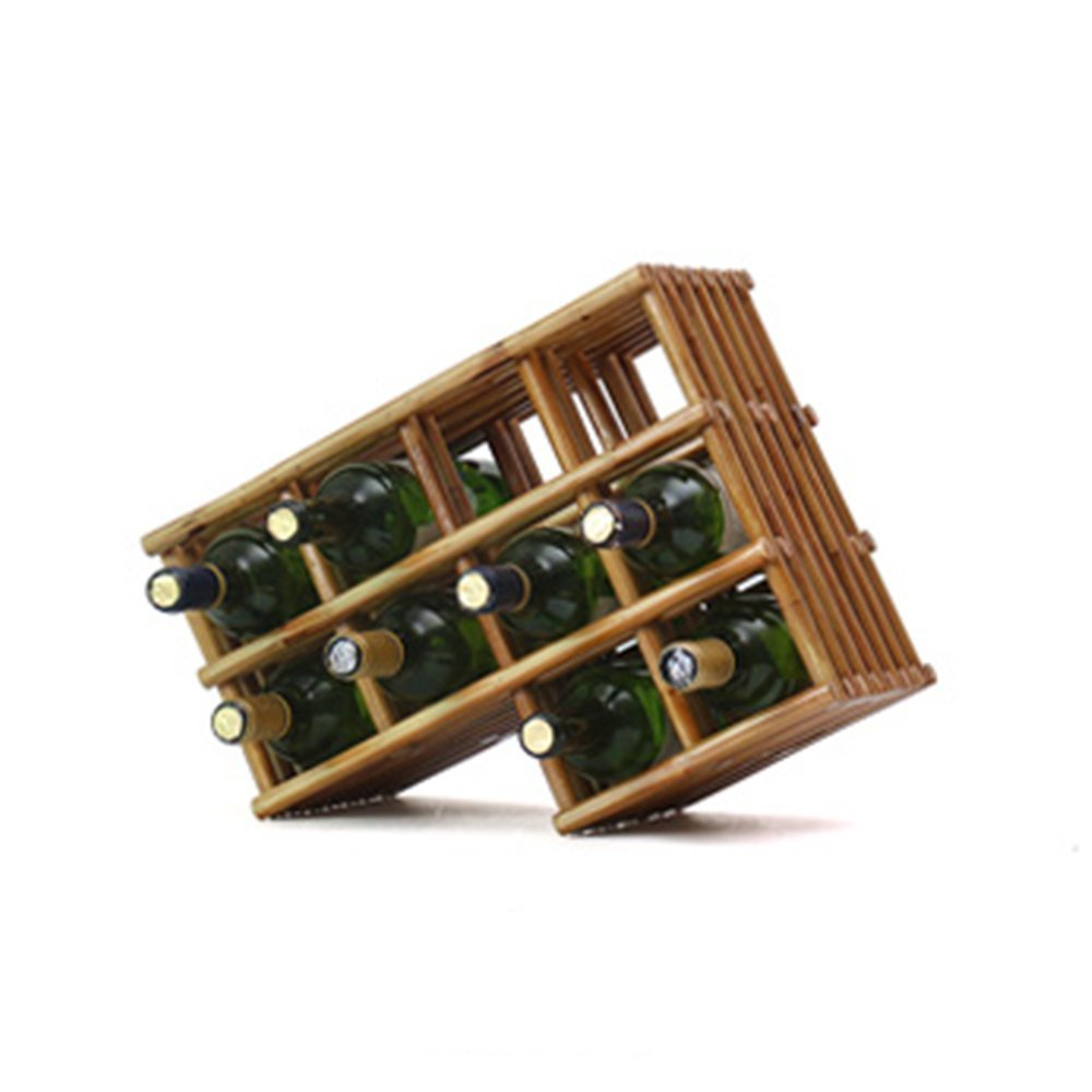 492036cm Red Wine Shelf wine rack Red Ignite Primer Desktop Surface Luster Non-greyed Waterproof Anti-striking Natural Texture Moisture Feel Flexible Elastic Durable 6 Optional Can Place 4-12 Bottles Of Wine @
