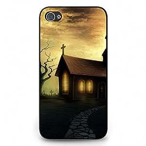 Unique Design Halloween Theme Phone Case Black Hard Plastic Case Cover For Iphone 4