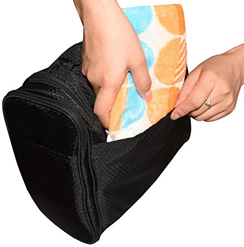 c88f64c2ff70 Hanging Toiletry Bag By Freegrace - Premium Large Travel Essentials  Organizer - Durable Metal Hook -