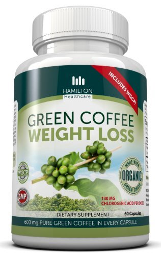 Hamilton Healthcare Organic Green Coffee Bean Weight Loss with WGCP for Added Energy and Focus - Pack of 60 Capsules by Hamilton Healthcare