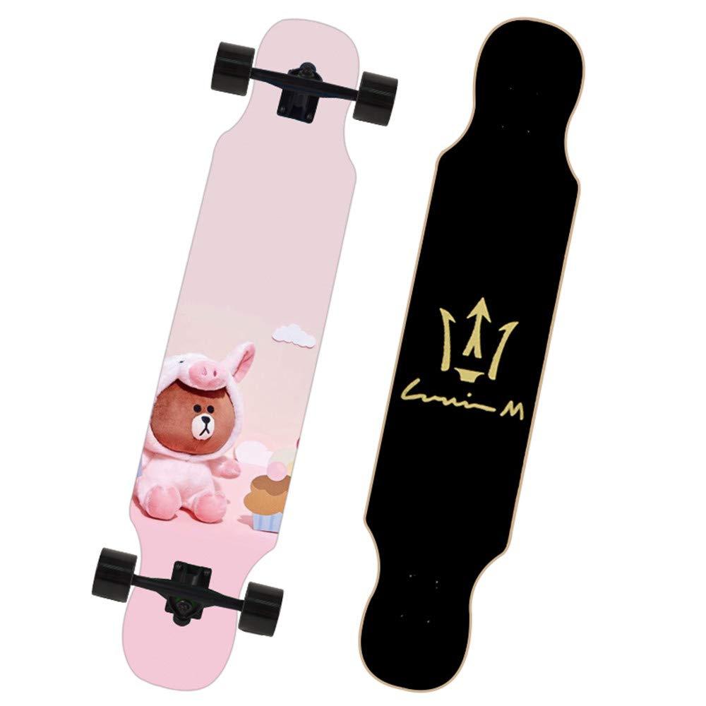 Felices compras Teen Skate moda lindo patrón adecuado adecuado adecuado para las niñas de Skate principiantes Skate al aire libre deportes especiales de arce Skate carretera cepillo de la máquina profesional-grado de fantasía Skate,2  tienda hace compras y ventas