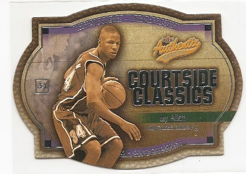 Ray Allen 2002-03 Fleer Authentix Courtside Classics Silver Card #724/750