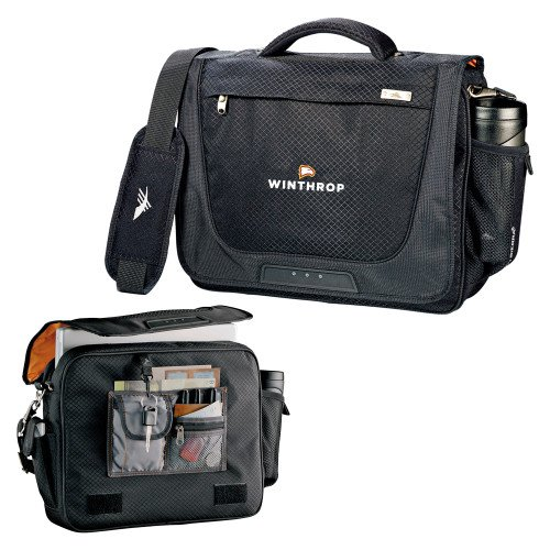 Winthrop High Sierra Black Upload Business Compu Case 'Primary Mark' by CollegeFanGear