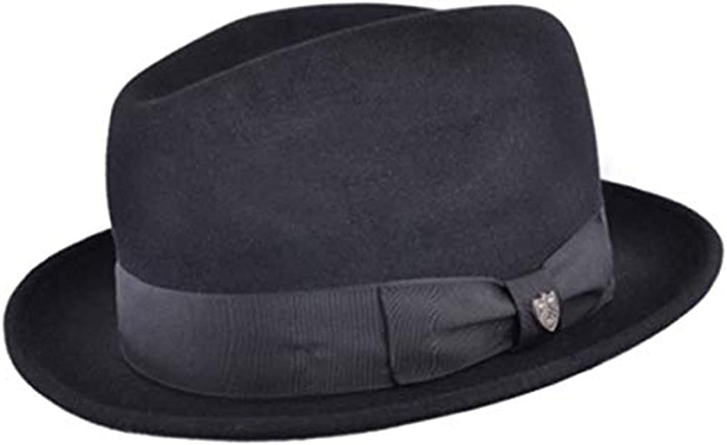 UK-Unique Gladwin Bond 100/% Fur Felt Quality Hand Made Fedora Trilby Hat with Matching Band