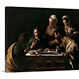 """Michelangelo da Caravaggio Premium Thick-Wrap Canvas Wall Art Print Entitled Supper at Emmaus, 1606 20""""x16"""""""