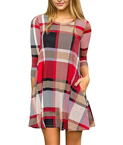 Plaid And Floral Dress - 2