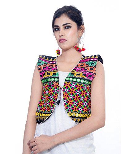 Bullet Jacket (Banjara India Kutchi Short Choli Jacket (Bullet) (Black))