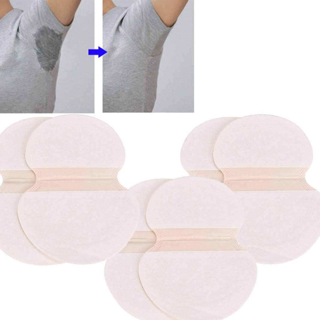 Elaco Armpit Sweat Pads, 6pcs Underarm Adhesive Sweat Pad Armpit Goodbye Antiperspirant Deodorant Deoderant (White)