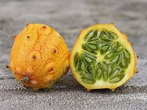 has the tart flavor of pomegranate!!! Kiwano African Horned Cucumber Seeds